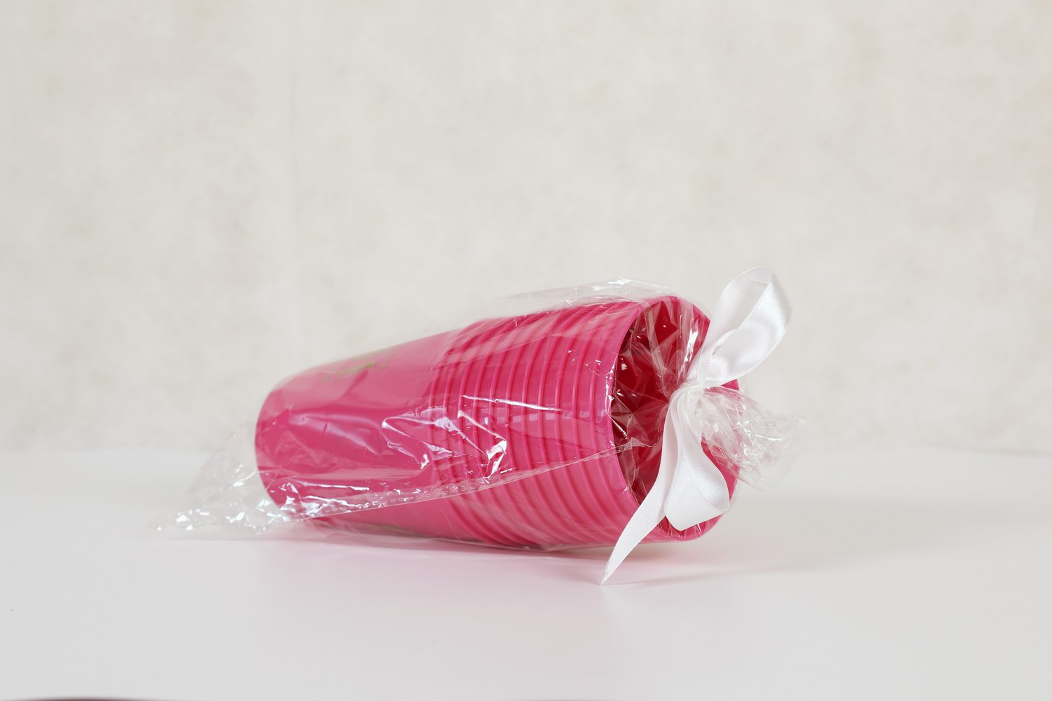 Pink Party Plastic Wedding Bride and Bride Tribe Bachelorette Cups